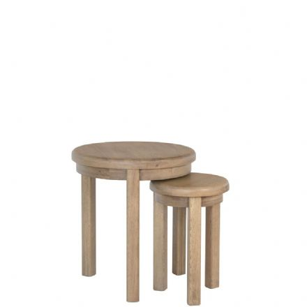 Henley Oak Round Nest 2 of Tables